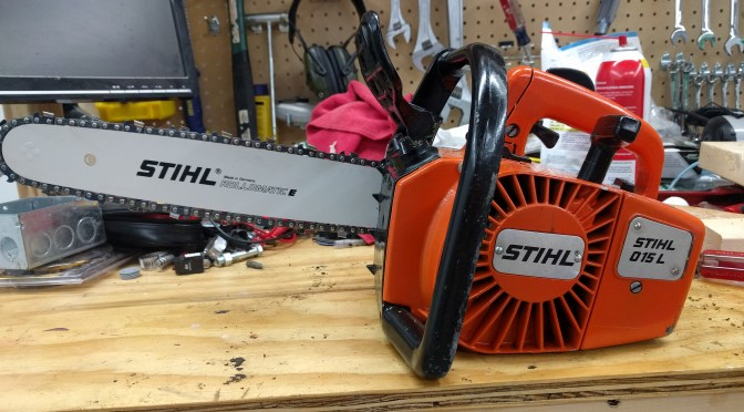 Converting Stihl 015L Chainsaw from 1/4″ to 3/8″ Pitch