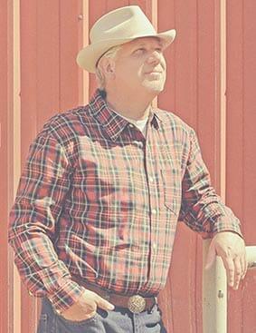 Glenn Beck dressed like a farmer