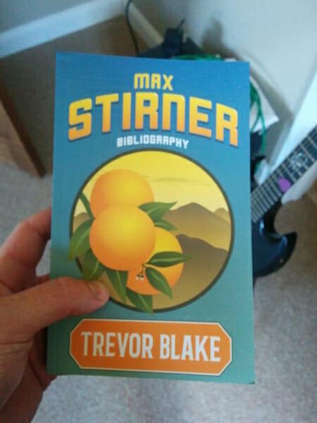 Book Cover: Max Stirner Bibliography by Trevor Blake