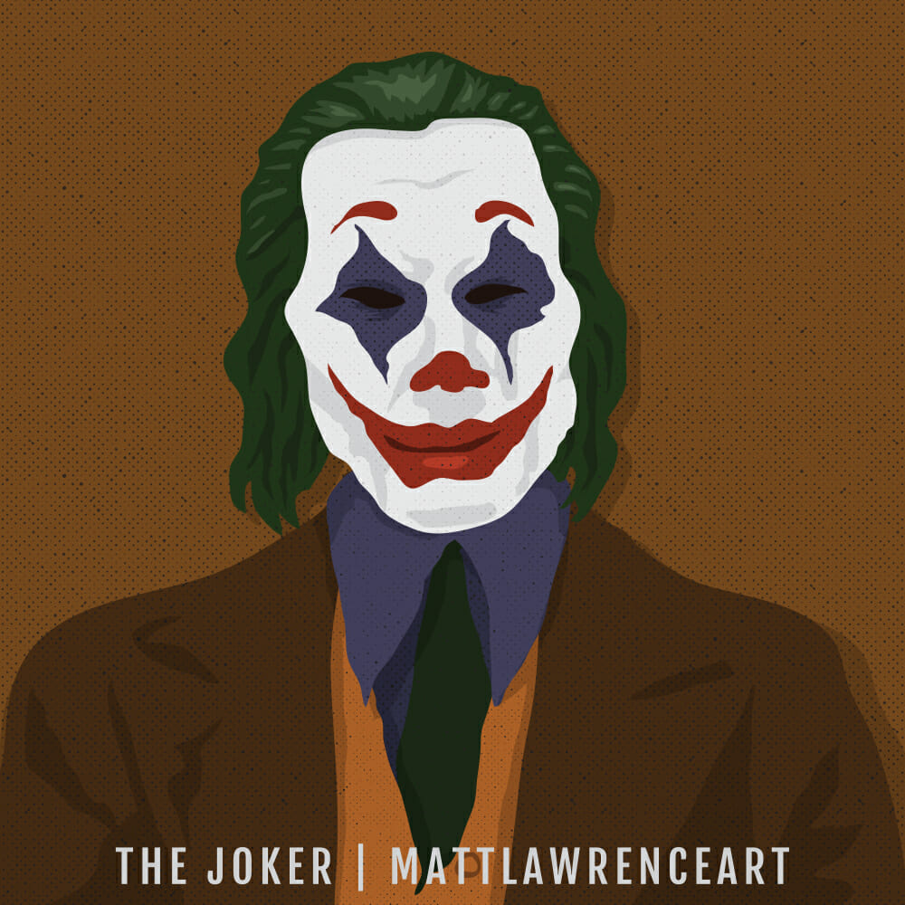joker vector portrait
