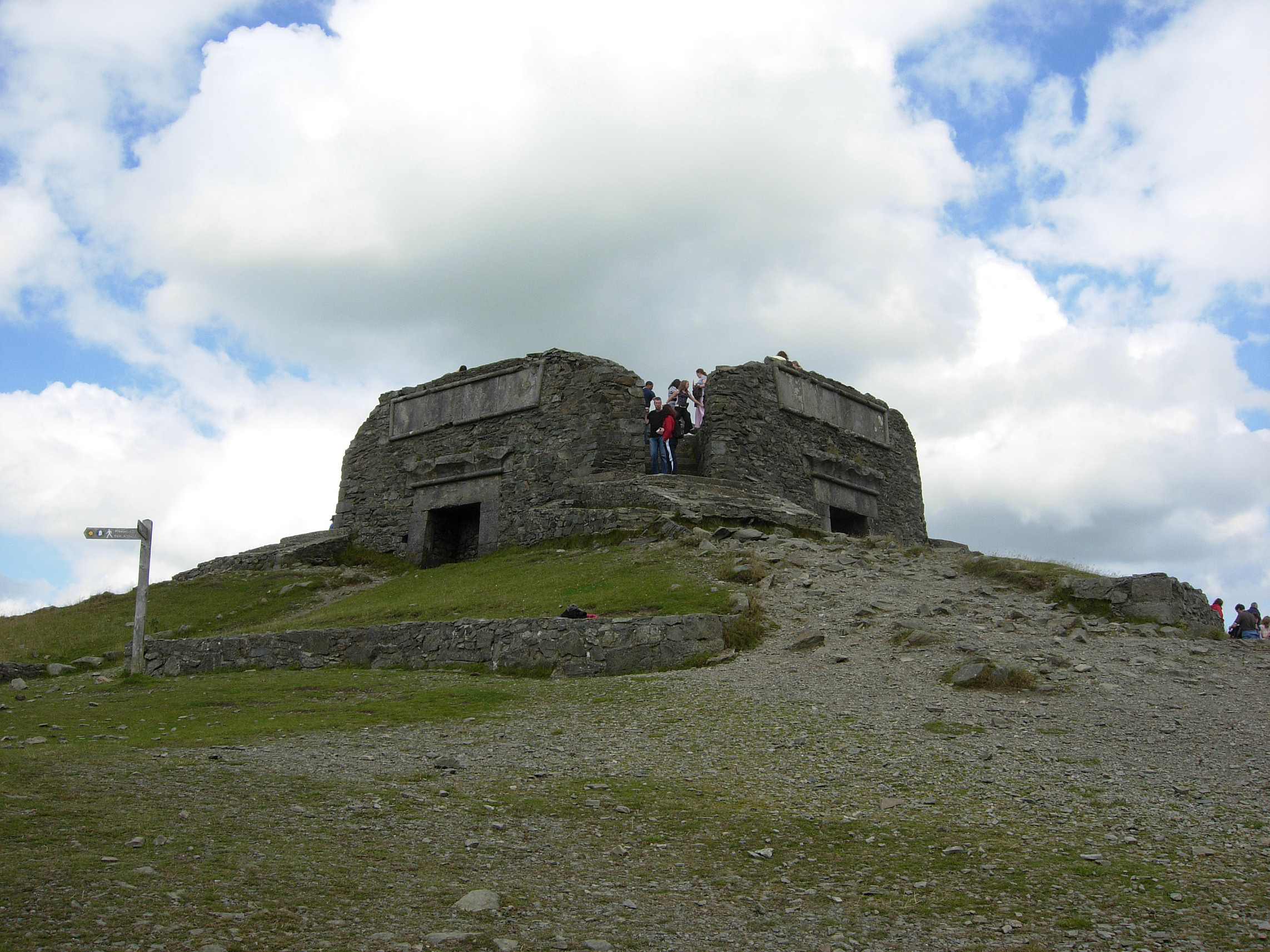 A picture of the Jubilee Tower on top of Moel Famau