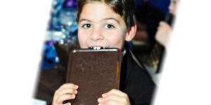 Chocolate Favors: menu card