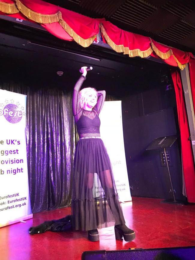 Poli Genova performing at Eurofest at the Royal Vauxhall Tavern
