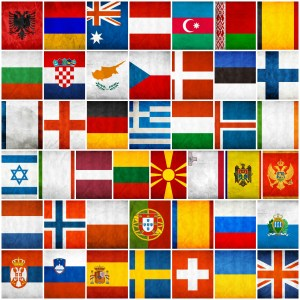 All flags of Eurovision