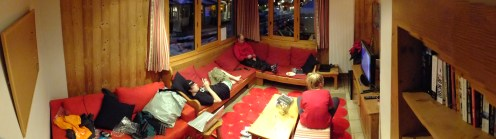Riders Refuge sorted us out with a sick chalet for us to chill in after we'd been up the mountain!