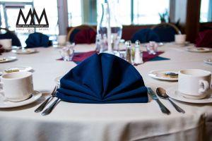 erie pa wedding venue yacht club napkin folded photo