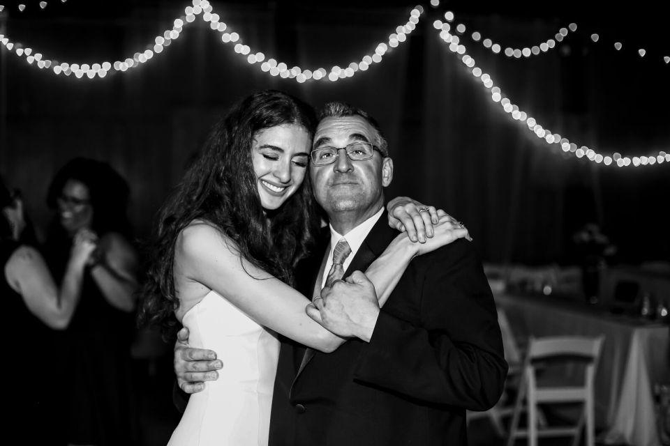 spirit pittsburgh pa wedding bride and dad hugging photo