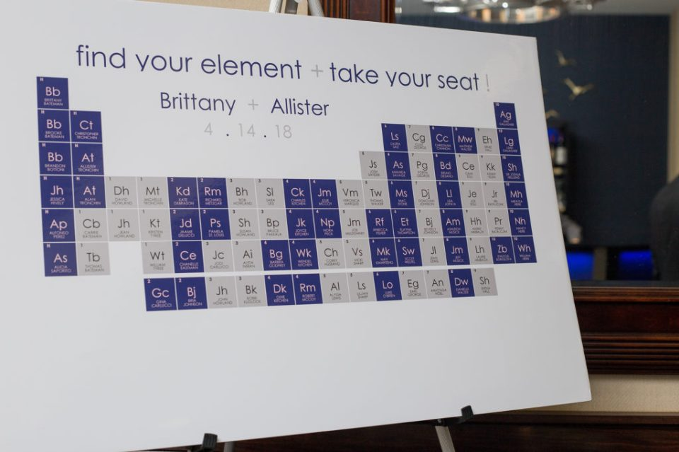 elements seating chart for wedding at Sheraton Bayfront Hotel in Erie, PA