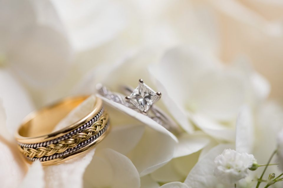 photo of wedding bands at Erie PA wedding