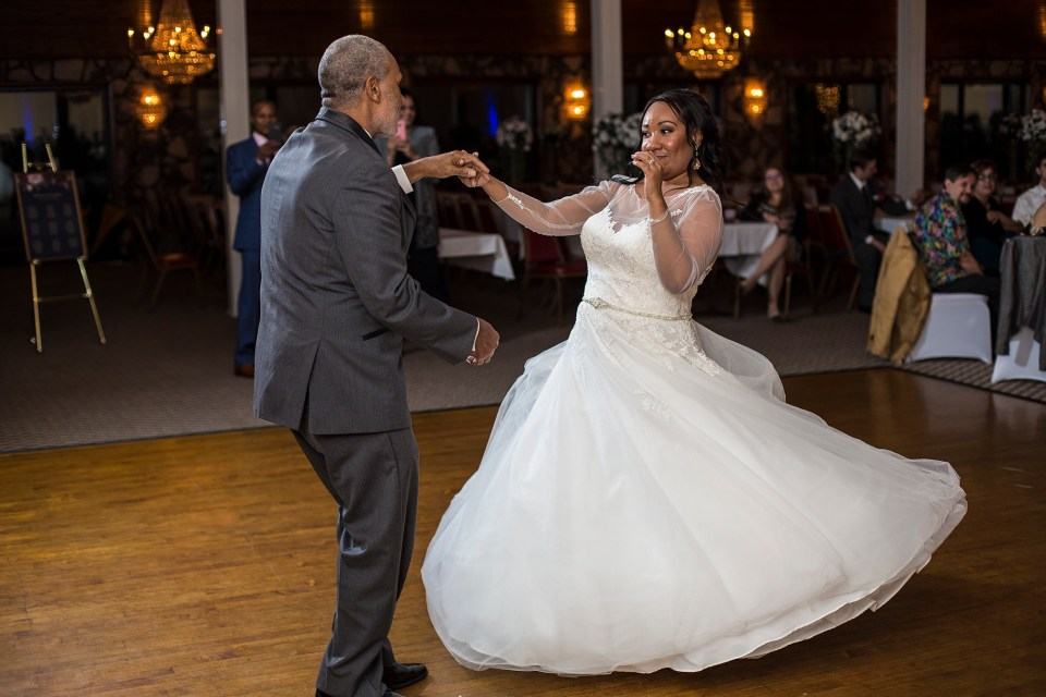 Bride dances with her father at Franzee's and Javy's wedding reception