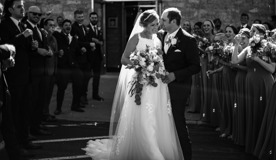 Bubble exit after St George Church wedding