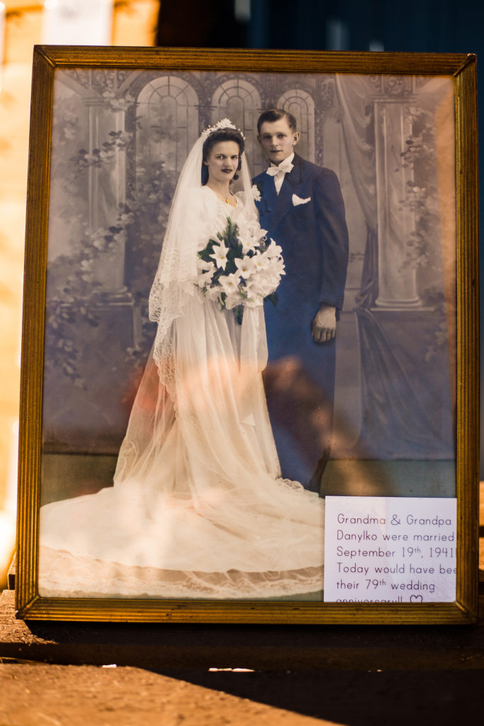 Wedding photo of bride's grandparents from wedding reception in Waterford PA
