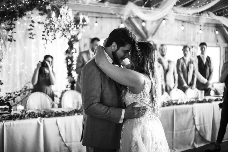 First dance at Whispering Trees Manor wedding