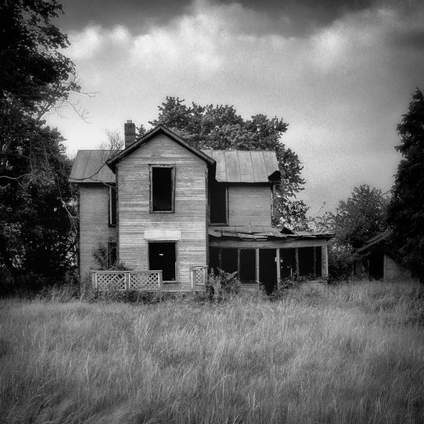 Empty   Black   White Photograph Print of an Abandoned House Empty   Fine Art Black and White Photograph of an Abandoned House