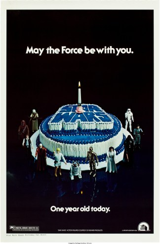 Star Wars poster for one-year annivesary of theatrical release