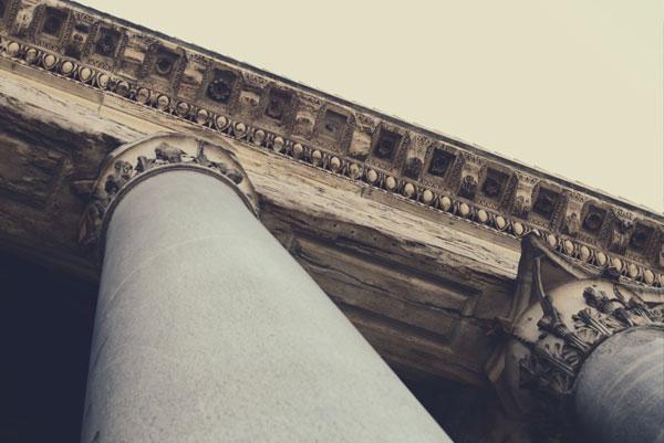 Government building pillars.