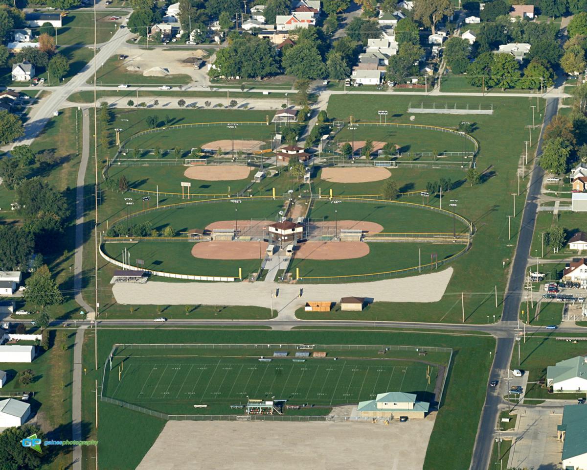 Aerial Photo of Sports Fields in Mattoon IL