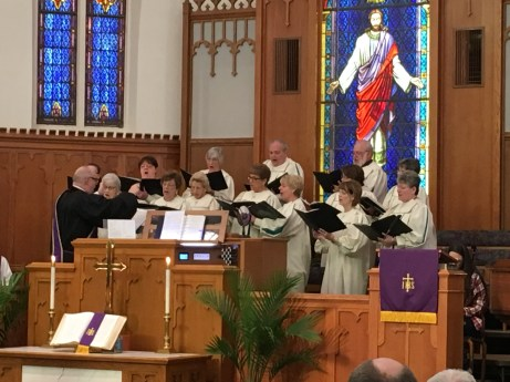 The Chancel Choir at the 8:15 am service.