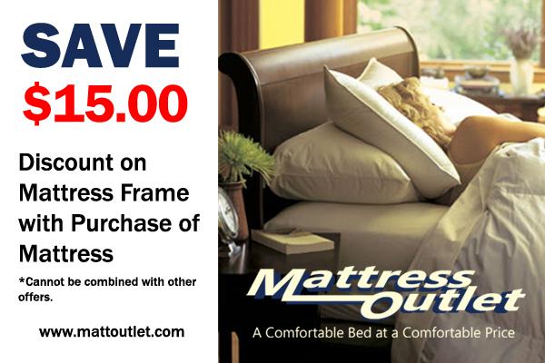 On Matress Frame With Purchase Of Mattress