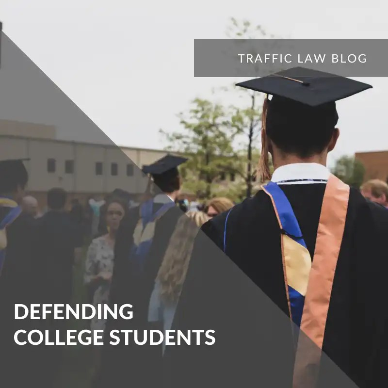Traffic Blog: Defending College Students