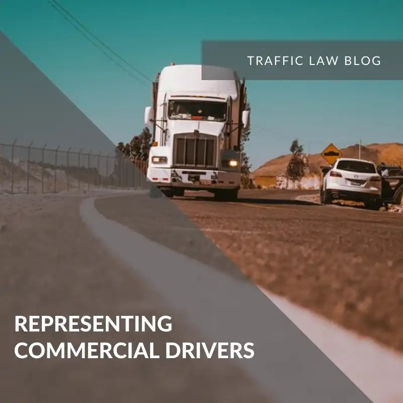 Traffic Blog: Representing Commercial Drivers