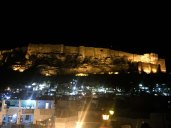 Mehrangarh Fort at night, Jodhpur