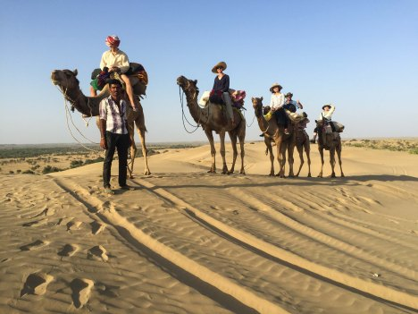 Heading our into the Thar Desert, Rajasthan