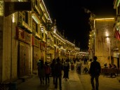 Buddhists circumnavigating the Jokhang Temple