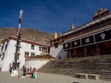 One of the many halls of Drepung Monastery