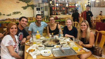 Shared with fellow backpackers from the US and Israel