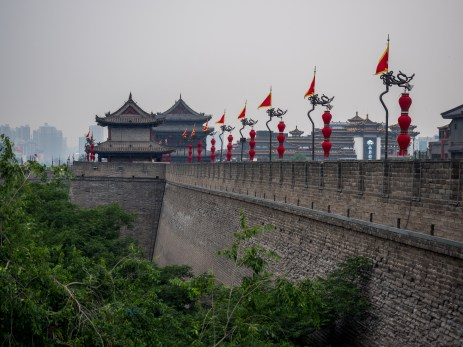 The ancient city of wall of Xi'an