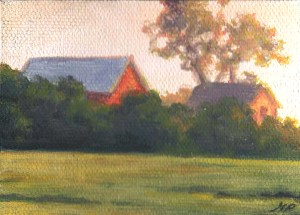 Old Iowa Farmhouse Original painting by Matt Philleo