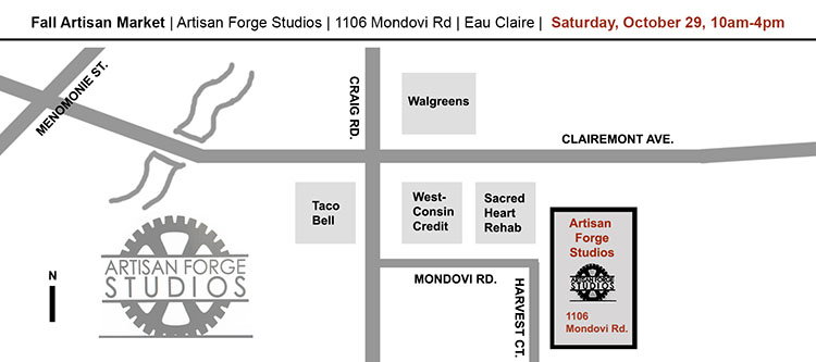Artisan Forge Studios fine art gallery in Eau Claire