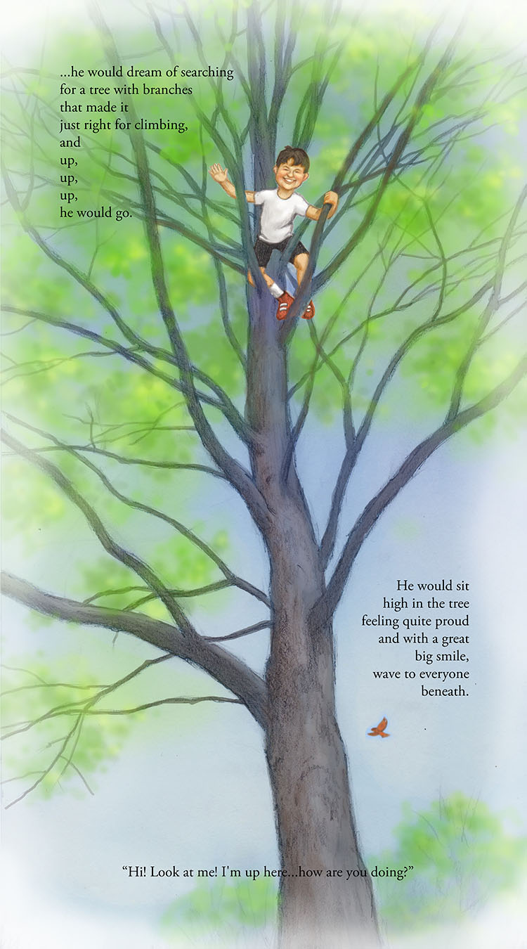 Boy in a Tree Childrens Book by Pamela Boodle and Matt Philleo