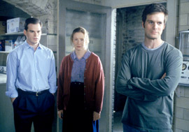Nate, David, and Ruth in a screenshot from Six Feet Under