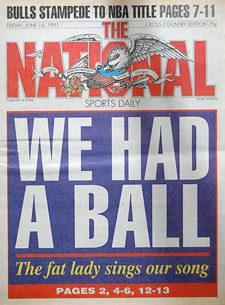 The Cover of the final issue of The National