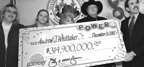 Jack Whittaker, and his family, posing after winning the lottery