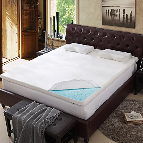 3 Inch Cool Gel Memory Foam Mattress Bed