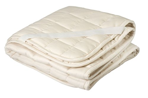 Crib Mattress Pad Greenbuds Organic Cottonwool Quilted
