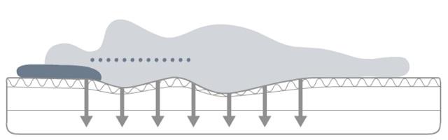 ビブラート1次世代体圧分散マットレス 理想の寝姿勢