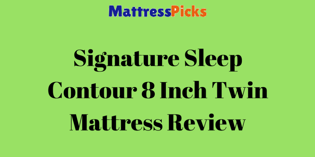 Signature Sleep Contour 8 Inch Twin Mattress Review