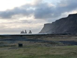 Vik on south coast of Iceland