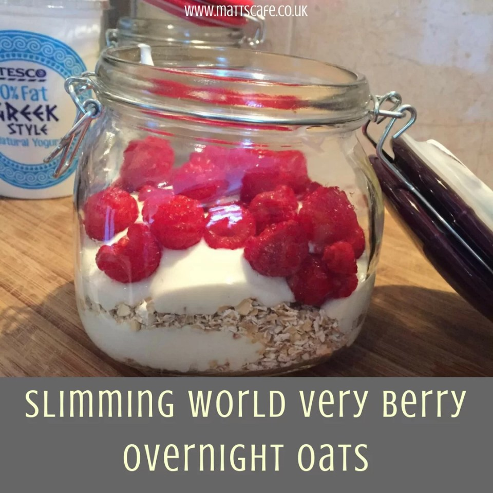 Slimming World Very Berry Overnight Oats - insta