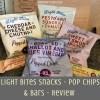 Light Bites Snacks - Pop Chips & Bars - Review - insta