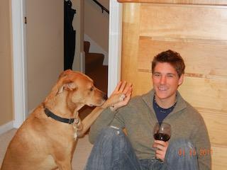 Matt with his pup, Tyson.