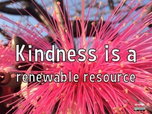 kindness is renewable resource