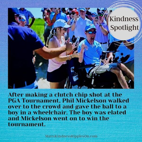 Phil Mickelson Kindness