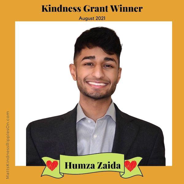 Kindness Grant Winner Humza Zaida