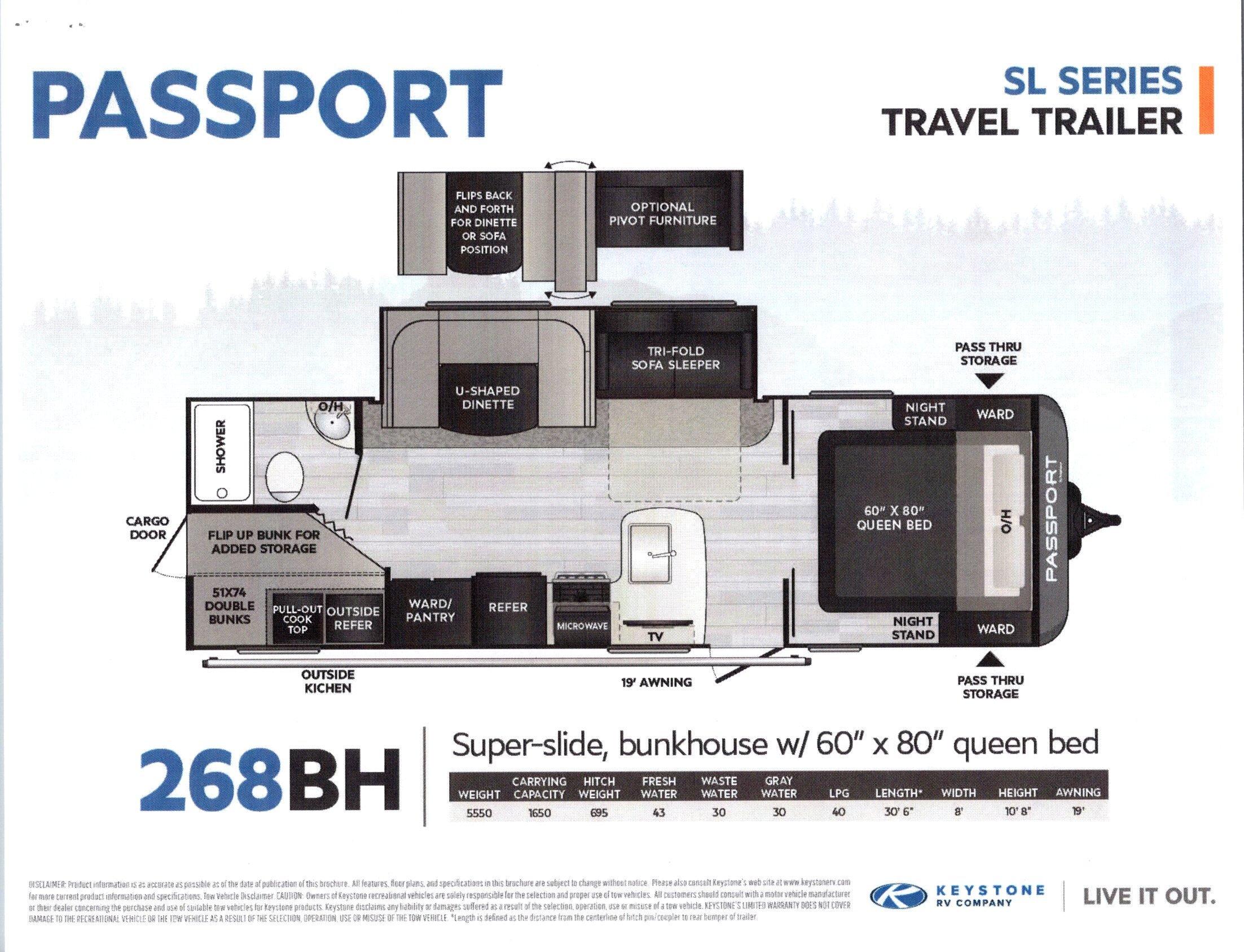2021 Passport 268BH SL Series
