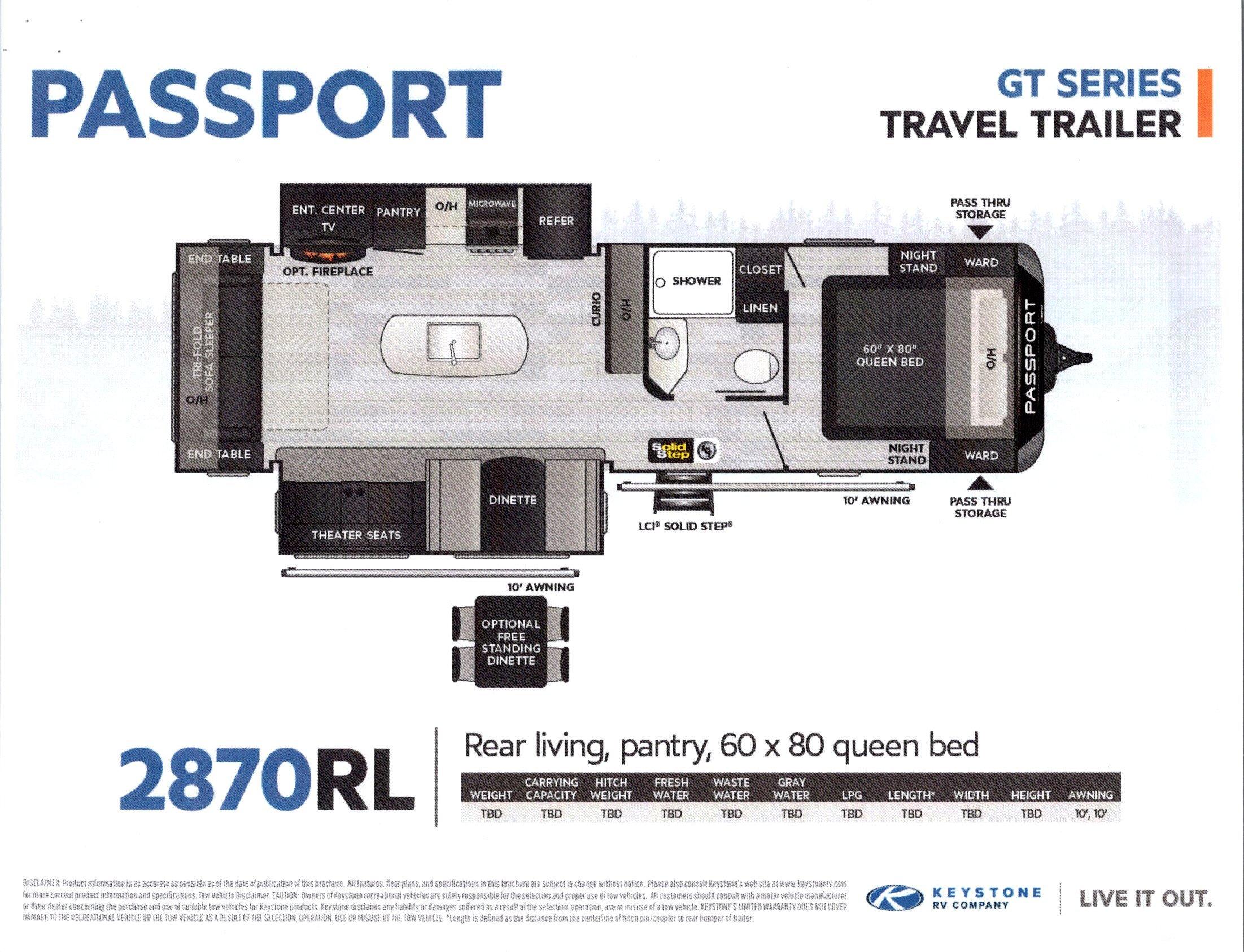 2021 Passport 2870RL GT Series